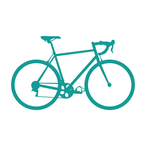 Road Bike Small Turquoise SALE - Dana Decals