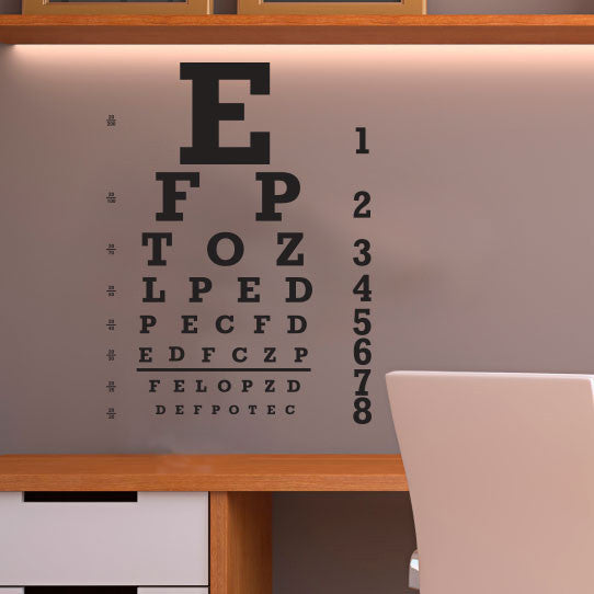 Eye Chart Poster - Dana Decals