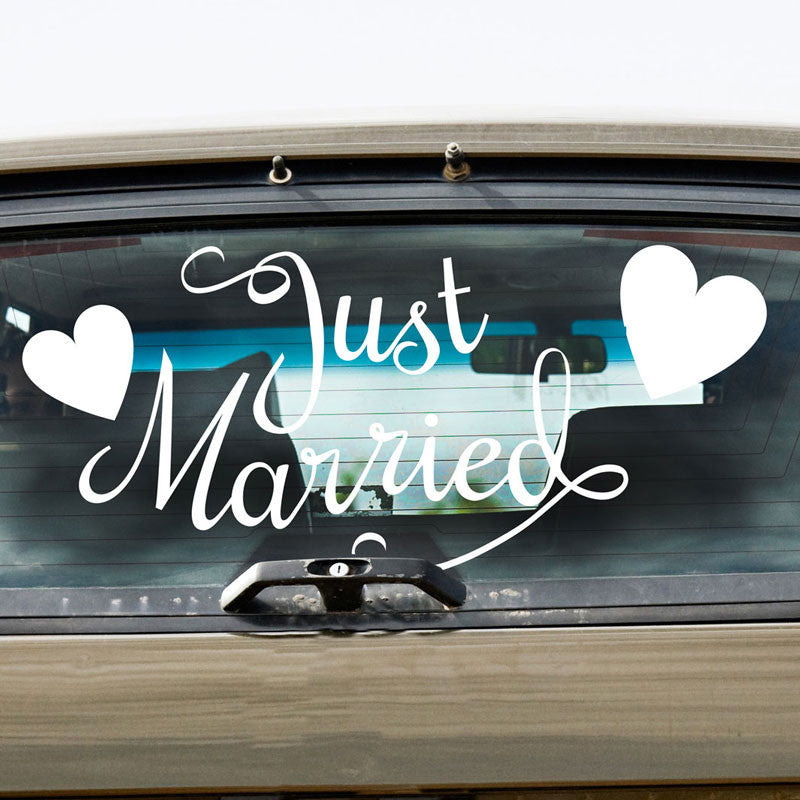 Just Married & Hearts - Dana Decals - 1
