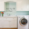 Wash Dry Fold Repeat Laundry Quote - Dana Decals - 2