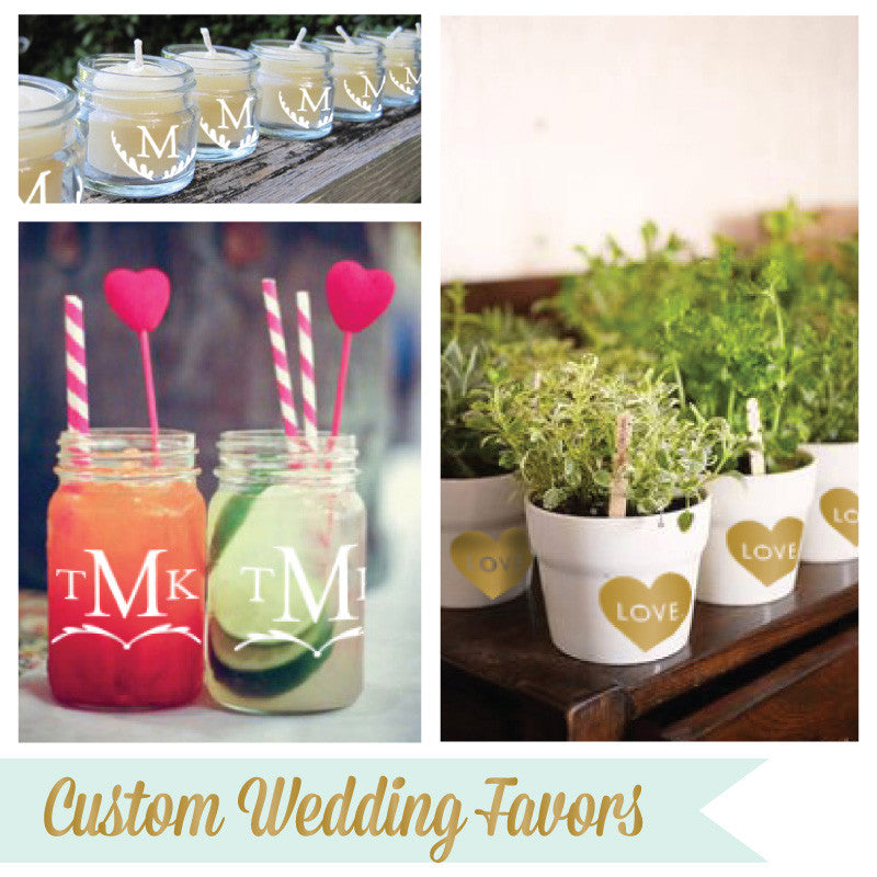 Create Your Own Personalized Labels for Wedding Favors - Dana Decals