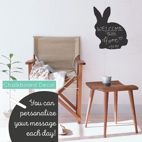 Chalkboard Vinyl Rabbit - Dana Decals - 1