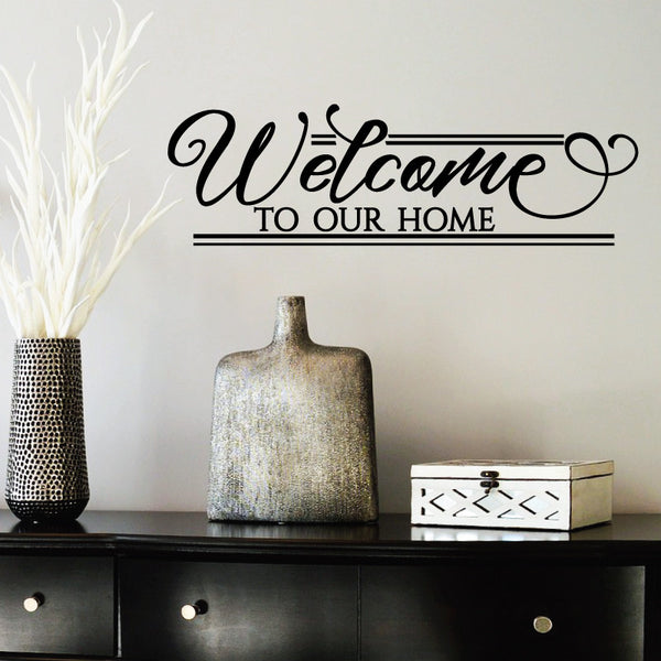 Welcome To Our Home: Welcome To Our Home Quote Wall Decal