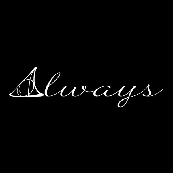 Always Quote X-Small White SALE - Dana Decals