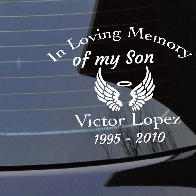 In Loving Memory Personalized Car Decal - Dana Decals - 1