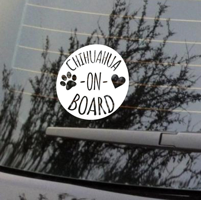 Chihuahua On Board Car Decal - Dana Decals - 1