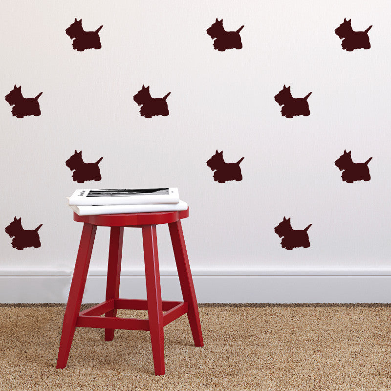 Scottish Terrier  Pattern - Dana Decals - 1