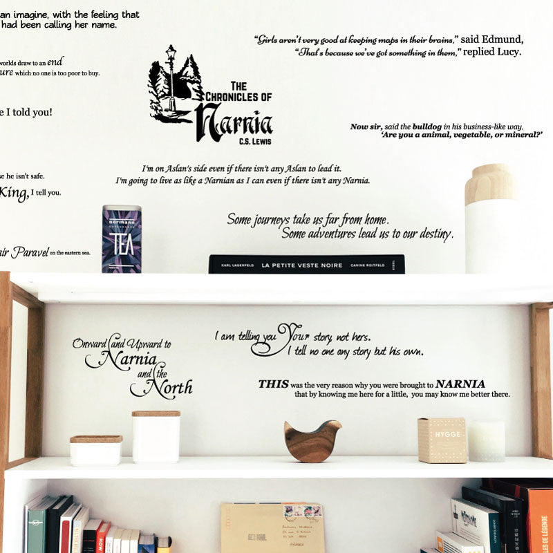 Chronicles of Narnia Quote Collection - Dana Decals