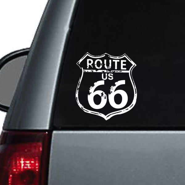 Rustic Worn-Down Route 66 Sign - Dana Decals