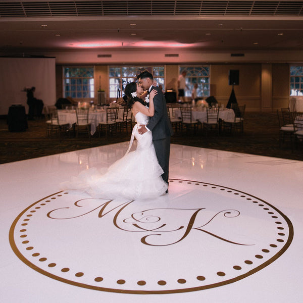 Wedding Dance Floor Circle Monogram - Dana Decals - 1