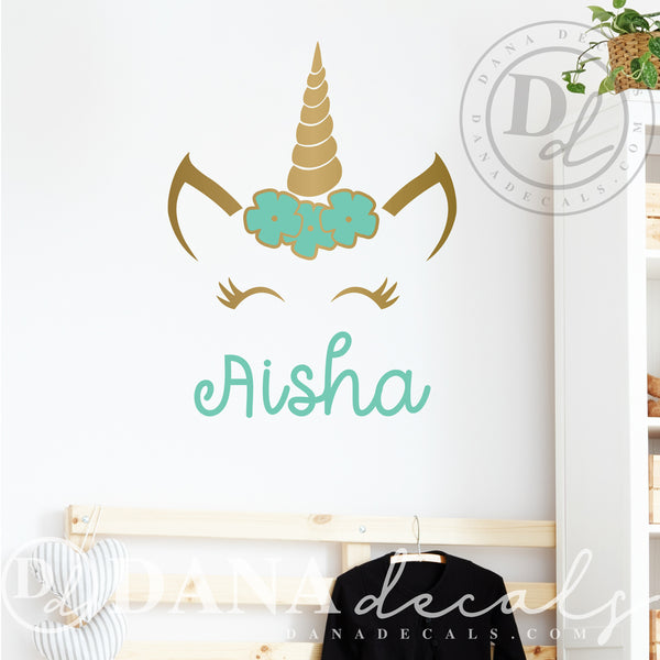 Magical Unicorn Name Decal with Name - Dana Decals