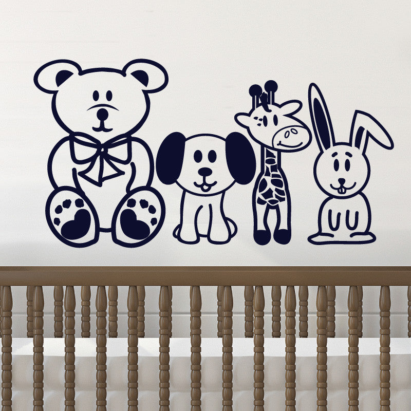 Friendly Stuffed Animal Decal Collection - Dana Decals - 1