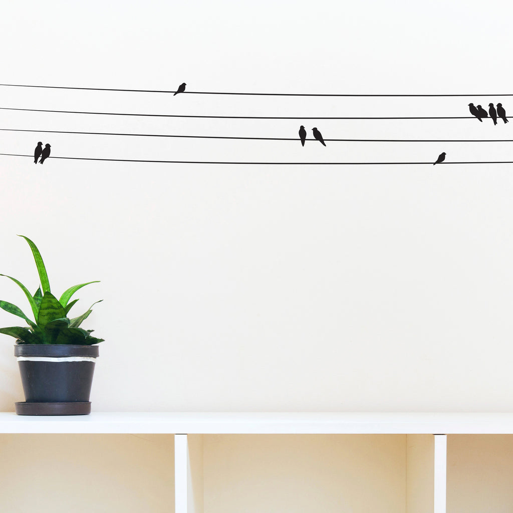 Birds on Powerlines - Dana Decals - 1