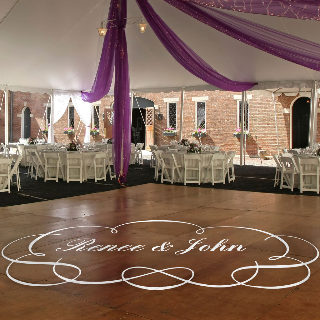 Dance Floor Monogram - Dana Decals