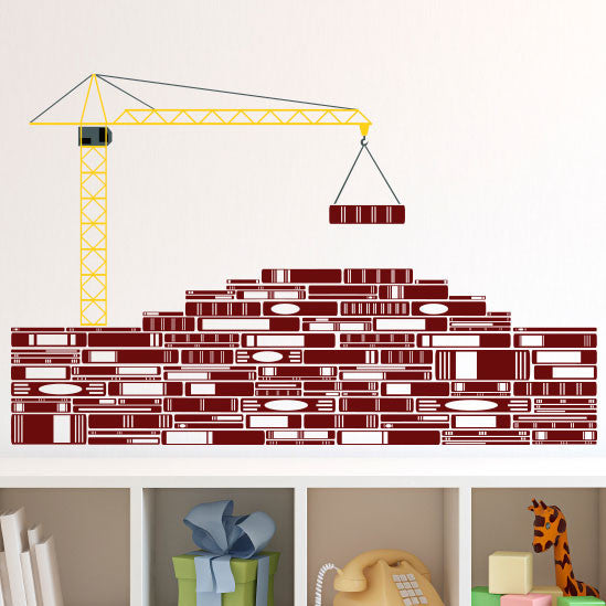 Book Bricks & Crane - Dana Decals