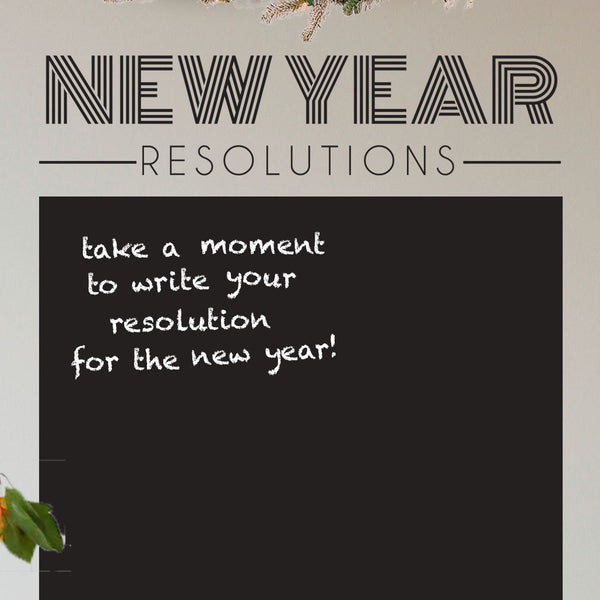 New Years Resolution Chalkboard - Dana Decals - 1
