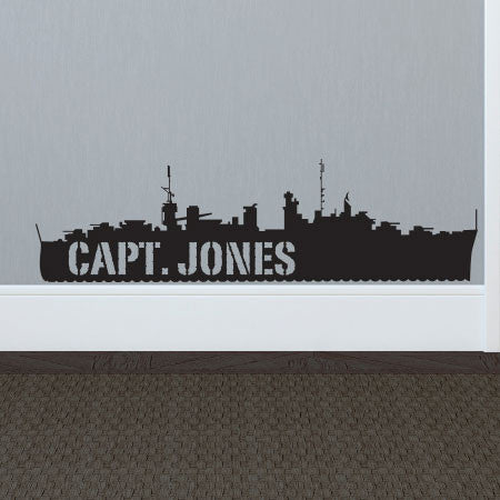 Personalized NAVY Ship - Dana Decals - 1