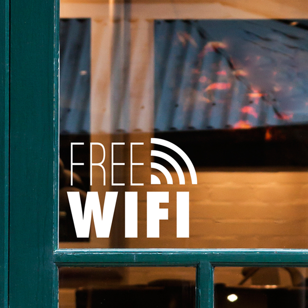 Free WiFi Sign - Dana Decals