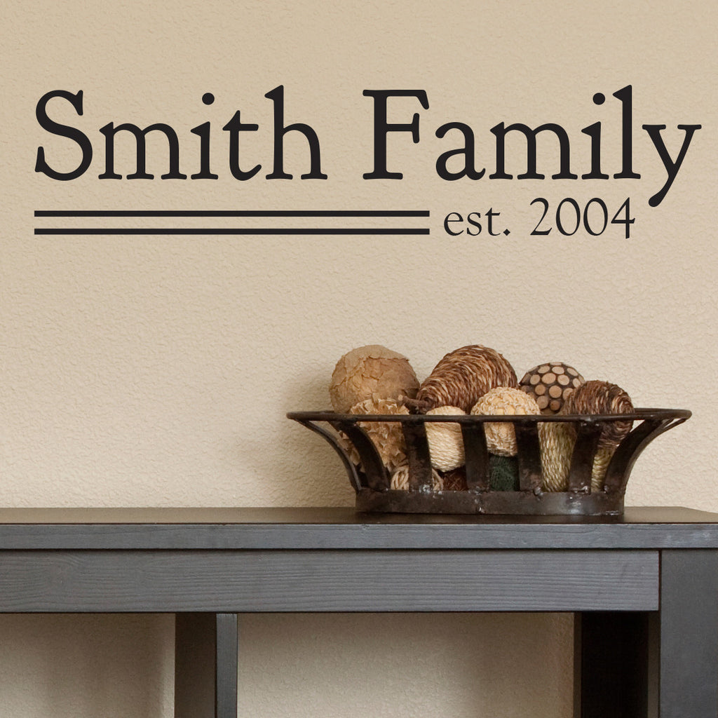 Personalized Family Established Quote - Dana Decals