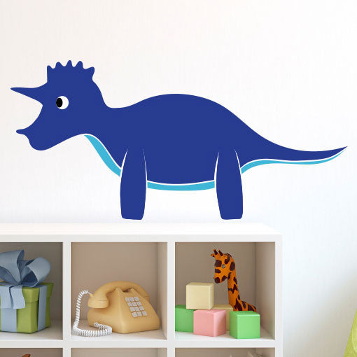 Happy Friendly Triceratops - Dana Decals