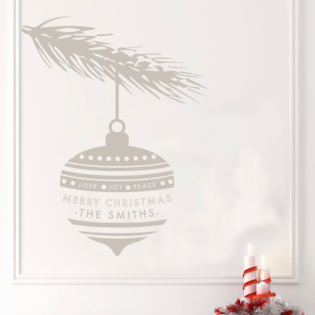 Personalized Christmas Ornament - Dana Decals - 1