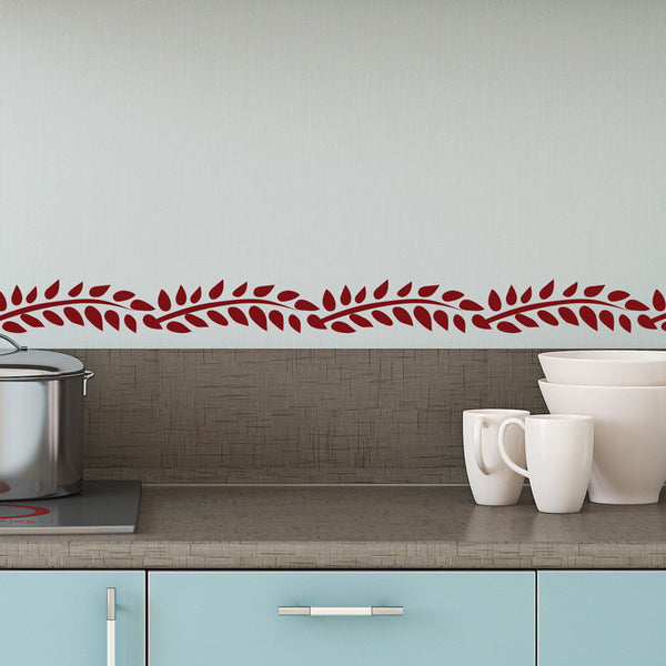 Mid Century Branches & Leaves Pattern - Dana Decals - 1