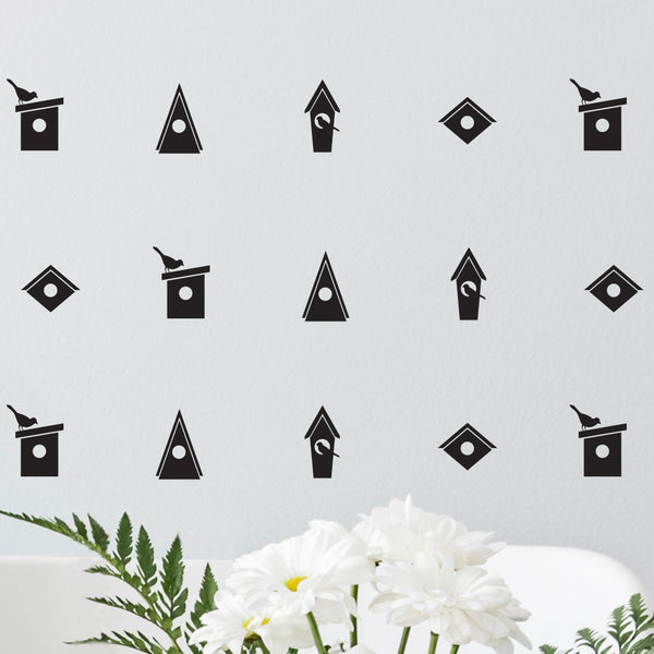 Birdhouses Icons Pattern - Dana Decals