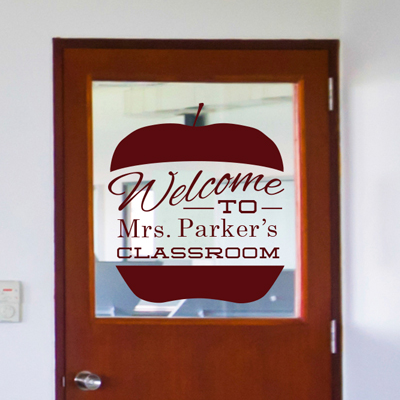 Personalized Apple Welcome Sign - Dana Decals