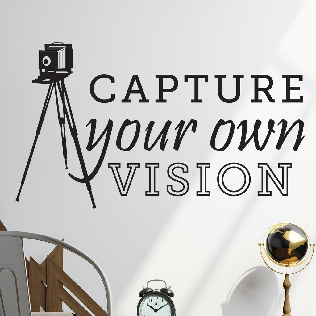 Capture Your Vision Vintage Camera Tripod - Dana Decals - 1