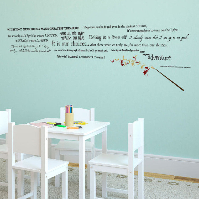 harry potter quote decal collection shop decals from dana decals