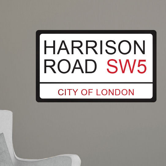 Personalized London Street Sign - Dana Decals - 1