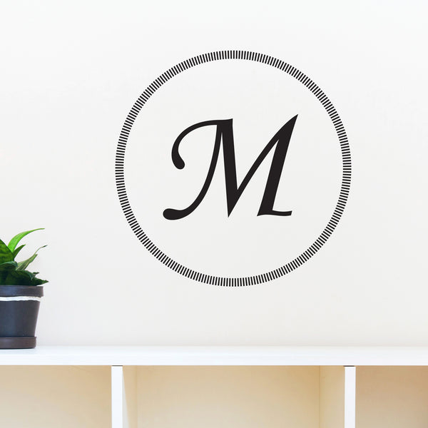 Modern Geometric Circle Monogram - Dana Decals - 1