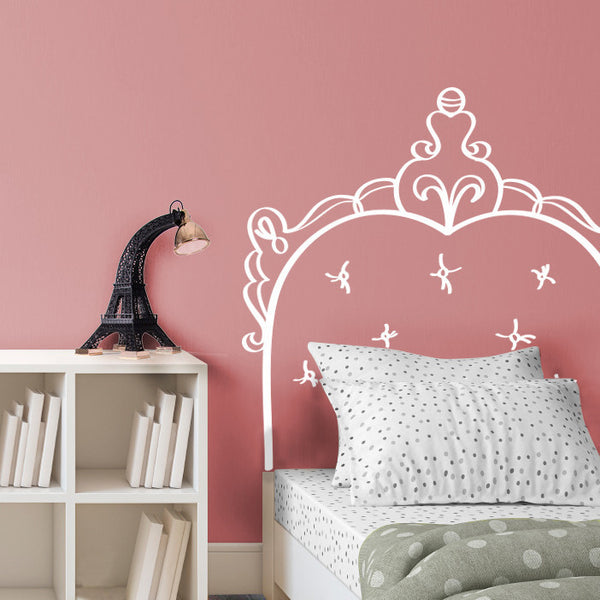 French Doodle Headboard - Dana Decals