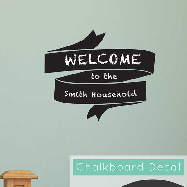 Chalkboard Banner Wall Sticker - Dana Decals