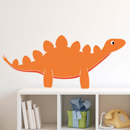 Happy Friendly Stegosaurus - Dana Decals - 1
