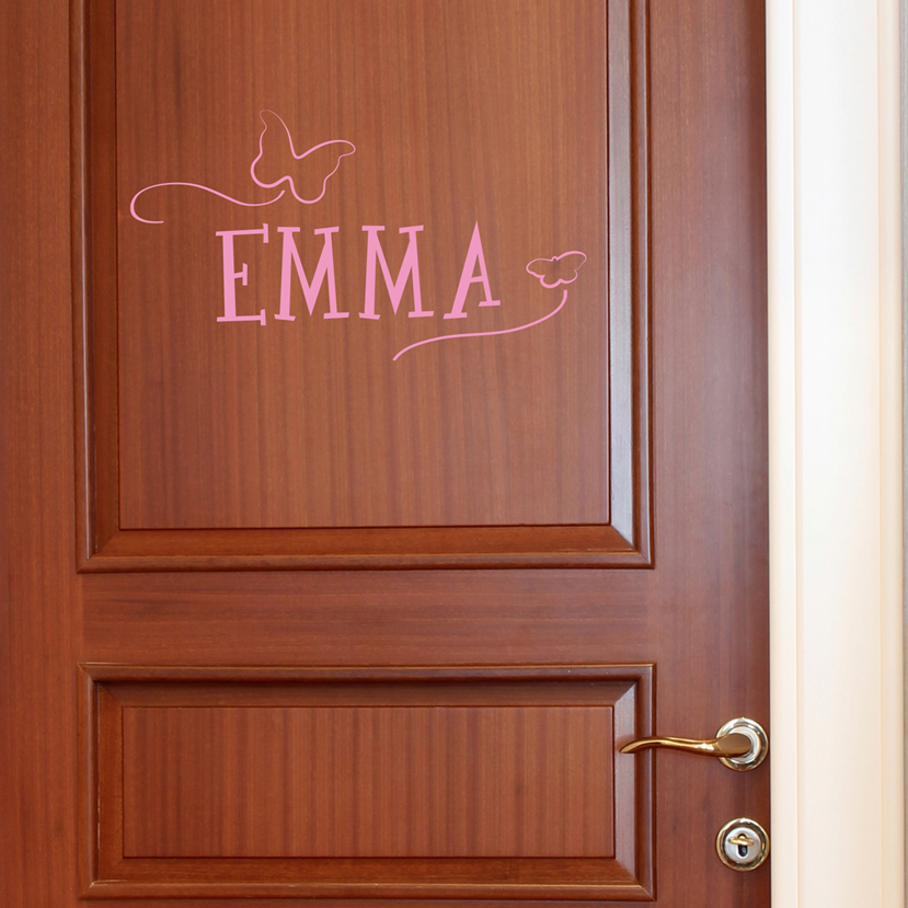 Personalized Name with Butterflies for Door - Dana Decals - 1