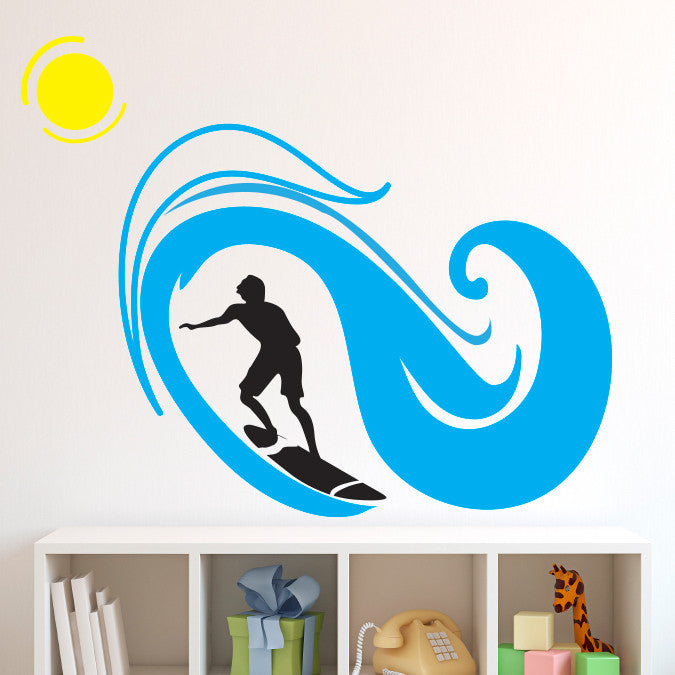Surfer and Wave - Dana Decals - 1