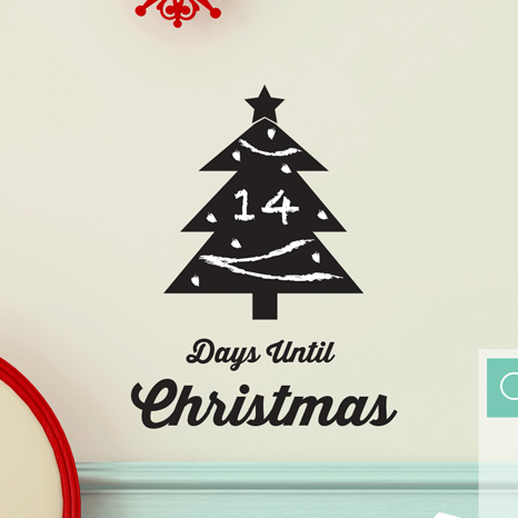 Christmas Countdown Chalkboard Tree - Dana Decals - 1