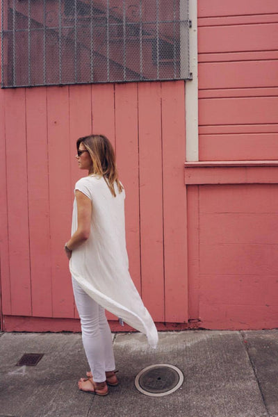 Milos Hemp Tunic in White