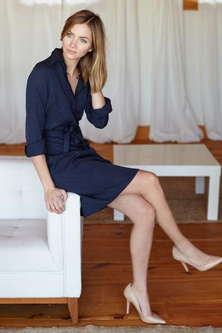 Shirtdress in Navy
