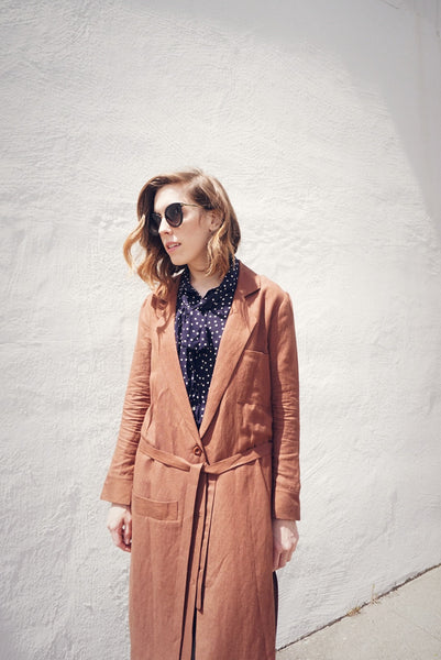 Belted Overcoat in Clay