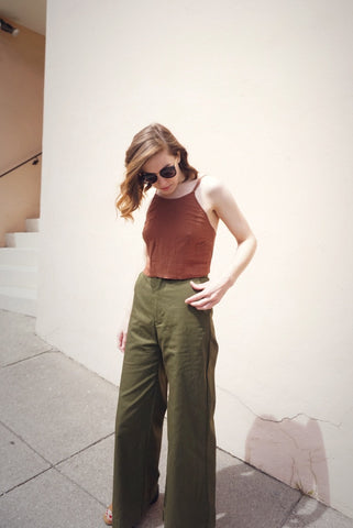 Alex Wide Leg Pant in Olive