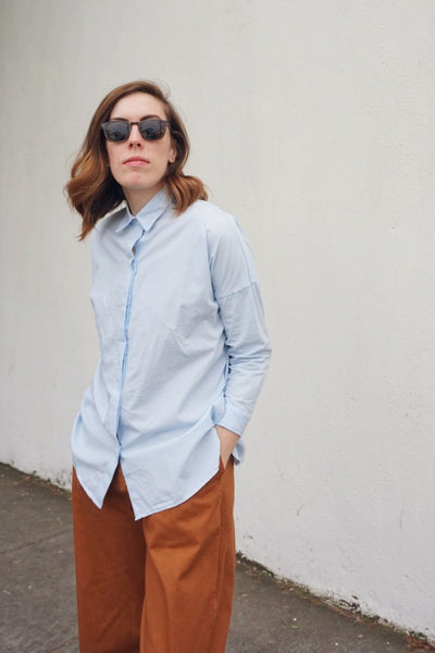 Stella Button-Down in Sky Blue