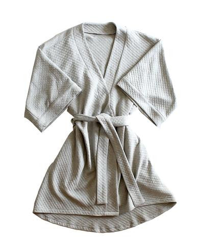 Marbella Quilted Robe in Gray