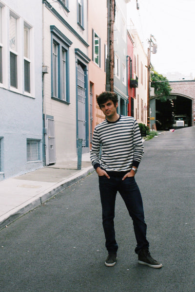 Andrew Striped Long-Sleeve Tee