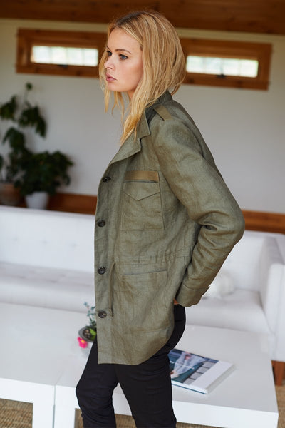 Little Army Jacket in Olive