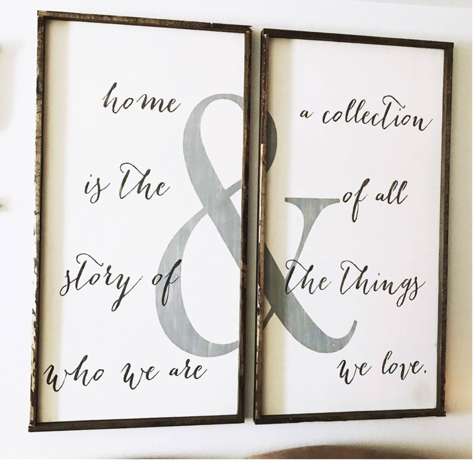 Home Is The Story Of Who We Are &... • Framed Sign Set