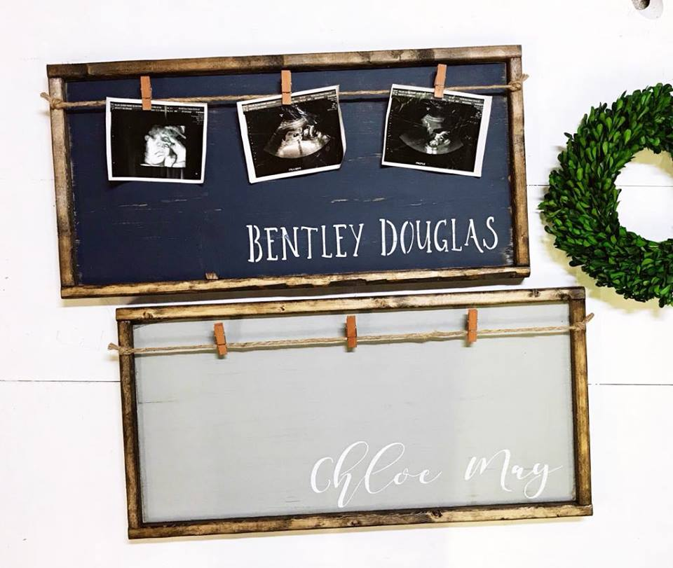 Name { First & Middle } • Framed Photo Board