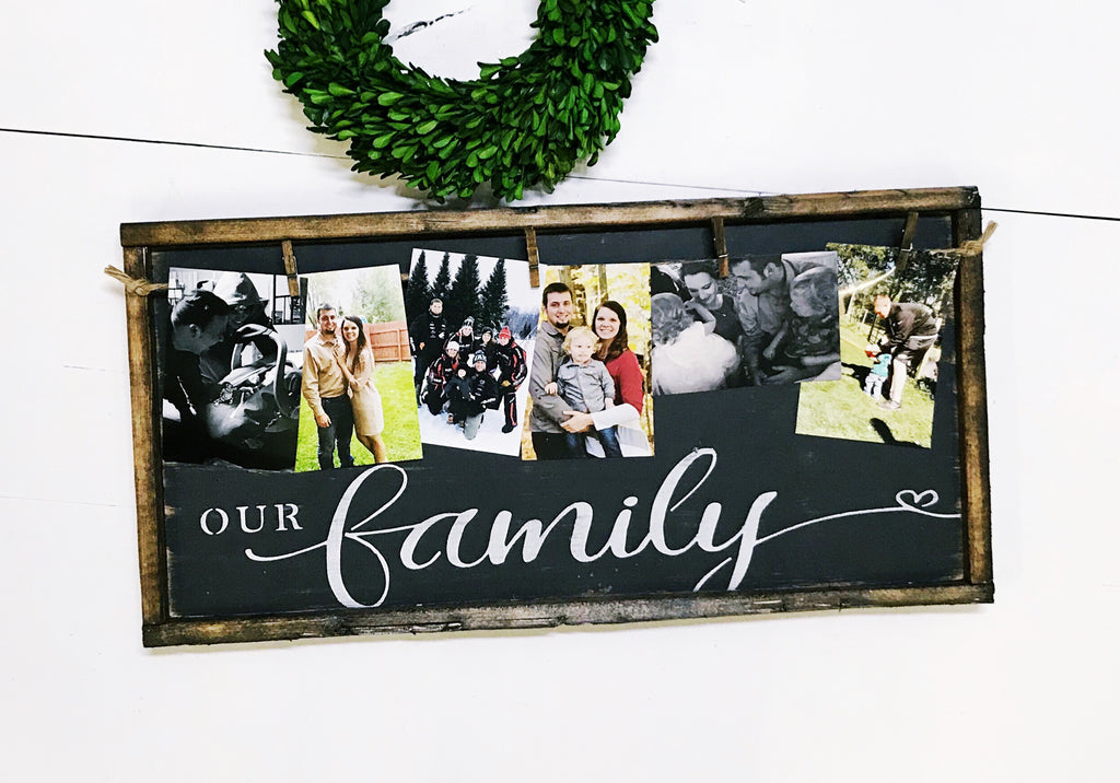 Our Family • Framed Photo Board