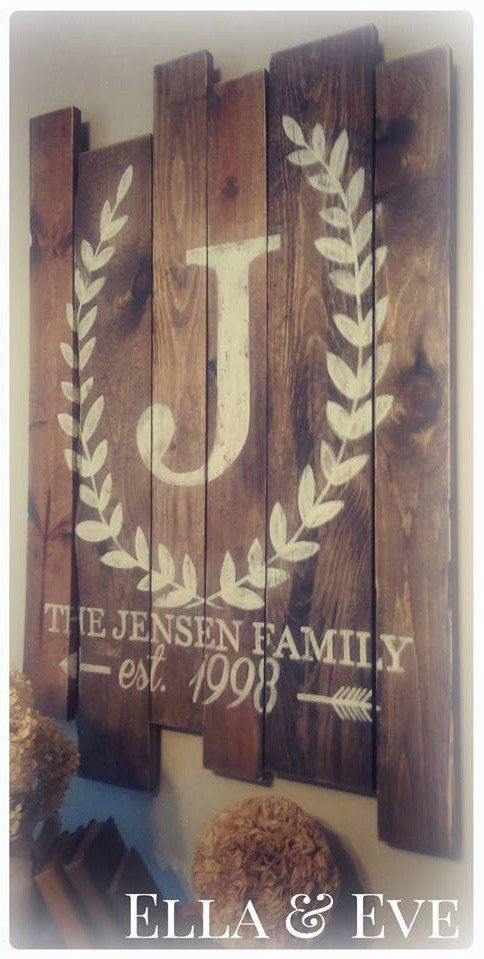 Jensen Sign : Wreath Monogram + Last Name & Est. Year